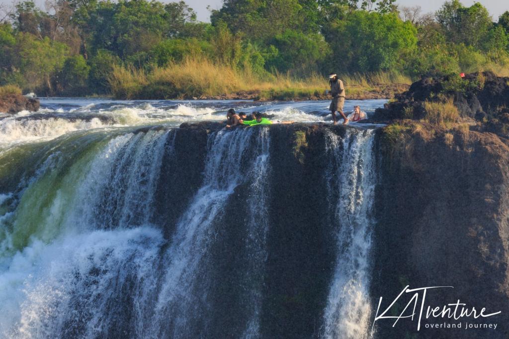 auf der Sambia Seite der Victoria Falls